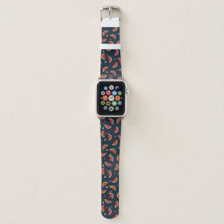 Bracelet Apple Watch Tranches de pastèque avec le motif de coeurs