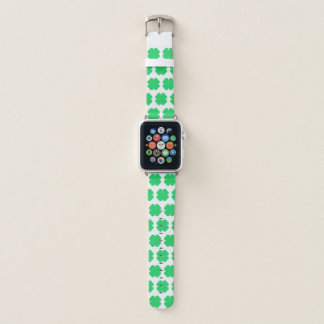 Bracelet Apple Watch Tréfle blanc