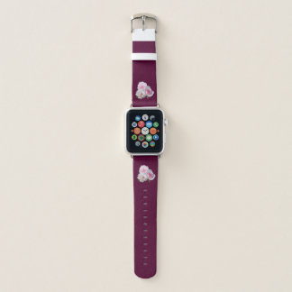Bracelet Apple Watch Trois roses roses