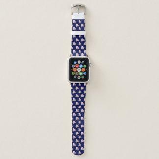 Bracelet Apple Watch Trois roses roses. Modèle floral