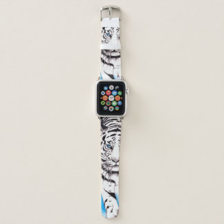 Bracelet Apple Watch Truie blanche de tigre sibérien