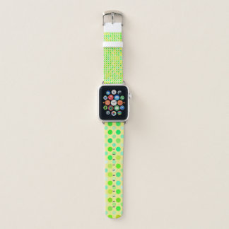 Bracelet Apple Watch Turquoise verte et point de polka jaune