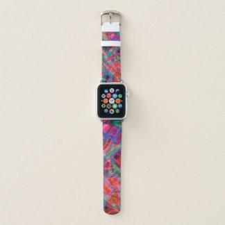 Bracelet Apple Watch Verre souillé coloré de bandes de montre d'Apple