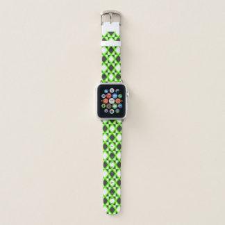 Bracelet Apple Watch Vert à motifs de losanges intense