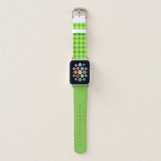 Bracelet Apple Watch Vert avec les points jaunes et bleus