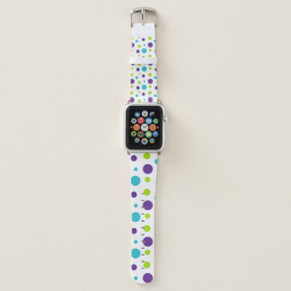 Bracelet Apple Watch Vert bleu et pourpre d'amusement