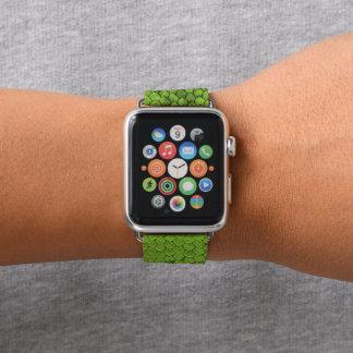 Bracelet Apple Watch Vert de reptile