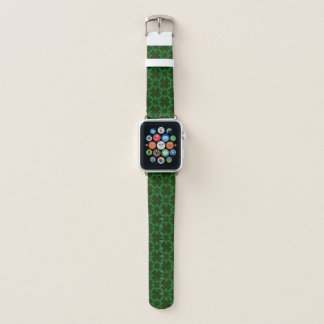 Bracelet Apple Watch Vert d'ensemble de trèfle