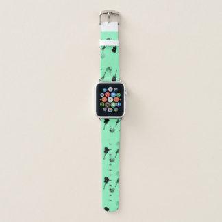 Bracelet Apple Watch Vert noir de roche de guitares une bande de montre