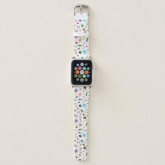 Bracelet Apple Watch Vie marine colorée