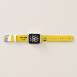 Bracelet Apple Watch Visage de sourire avec la bouche ouverte