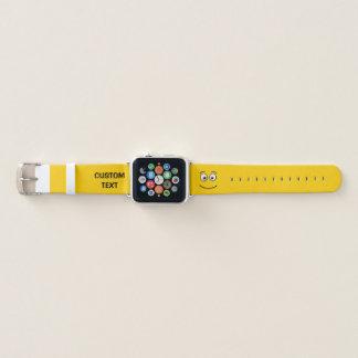 Bracelet Apple Watch Visage de sourire avec les yeux ouverts