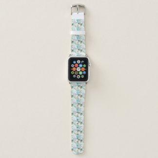 Bracelet Apple Watch Voilier d'aquarelle avec le motif de palmier