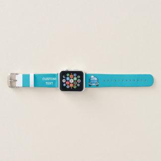 Bracelet Apple Watch Voiture bleue avec des bulles