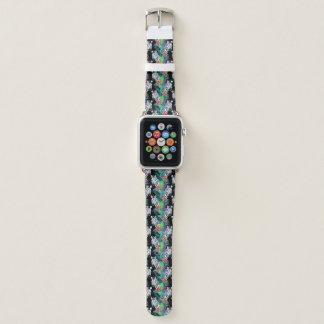 Bracelet Apple Watch Zèbre et motif de fleurs exotique