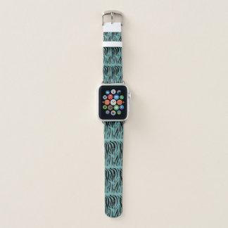 Bracelet Apple Watch Zèbre sur Teal