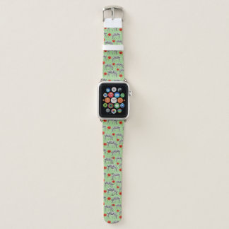 Bracelet Apple Watch Zèbres parmi des fleurs de ketmie