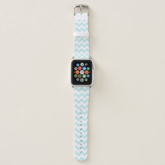 Bracelet Apple Watch Zigzag bleu-clair