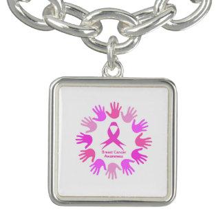 Bracelet Appui de conscience de cancer du sein