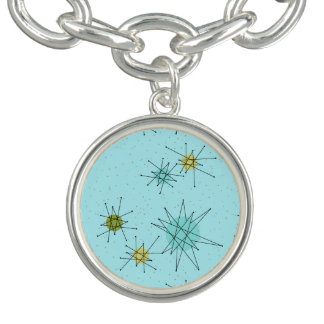 Bracelet atomique bleu de charme de Starbursts des