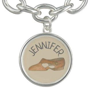 Bracelet Avec Breloques Chorégraphe lyrique bronzage de chaussure de danse