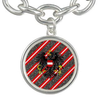 Bracelet Avec Breloques Drapeau autrichien de rayures