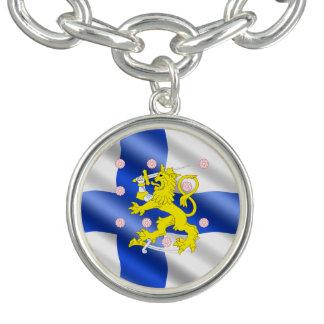 Bracelet Avec Breloques Drapeau finlandais