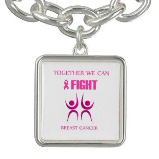 Bracelet Avec Breloques Ensemble nous pouvons combattre le cancer du sein