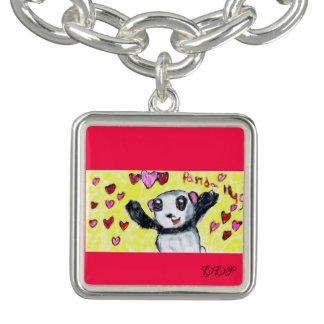 Bracelet Avec Breloques étreinte de panda