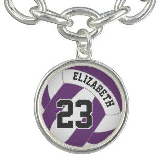 Bracelet Avec Breloques le nom du joueur/nombre de jersey TOUT volleyball