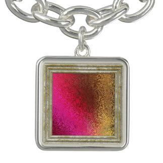 Bracelet Avec Breloques Motif rouge-rose et d'or