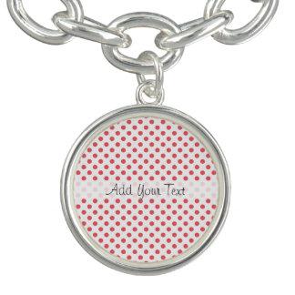 Bracelet Avec Breloques Pois rose de corail par Shirley Taylor
