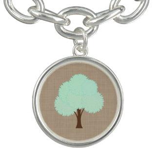 Bracelet Avec Breloques Toile de jute rustique d'arbre d'automne