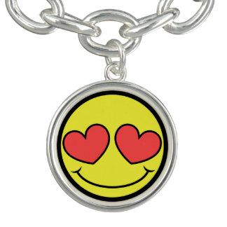 Bracelet Avec Breloques Visage d'amour