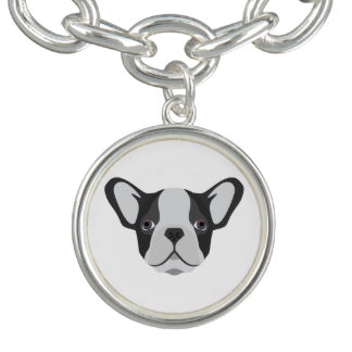 Bracelet Bouledogue français mignon d'illustration