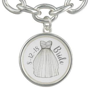 Bracelet Cadeau personnalisé de jeune mariée de robe de