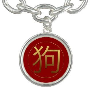 Bracelet Charme chinois B de la nouvelle année 2018 de