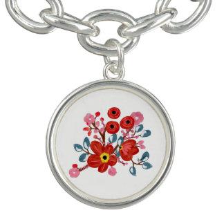Bracelet Charmes floraux
