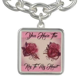 Bracelet Clé à mon coeur