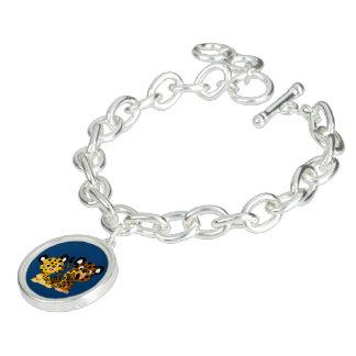 Bracelet coquet mignon de charme de jaguars de