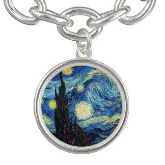 Bracelet de beaux-arts de nuit étoilée de Vincent