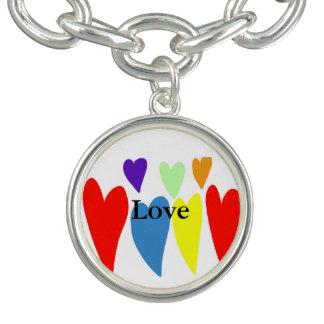 Bracelet de charme d'amour