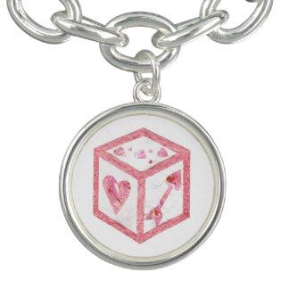 Bracelet de charme de matrices d'amour