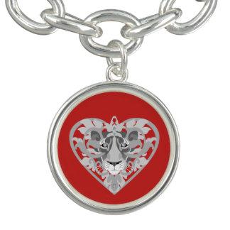 Bracelet de charme de pendentif de lionne d'amour