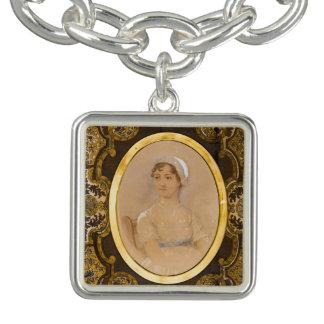 Bracelet de charme de portrait de Jane Austen
