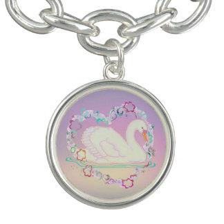 Bracelet de charme de princesse de cygne