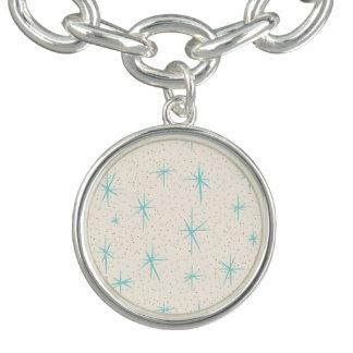 Bracelet de charme de Starbursts de turquoise