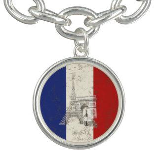 Bracelet Drapeau et symboles de la France ID156