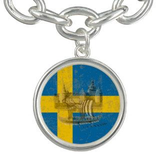 Bracelet Drapeau et symboles de la Suède ID159