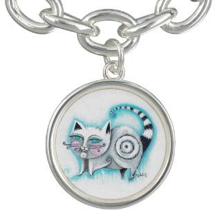 Bracelet génial de charme de chat